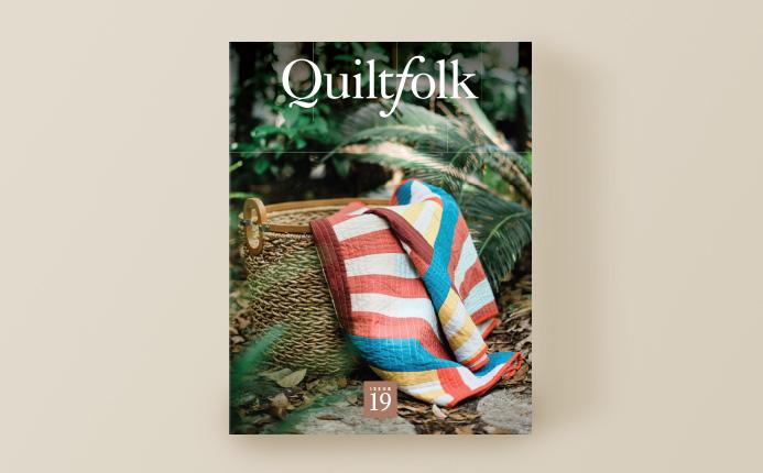 Quiltfolk 19 magazine cover