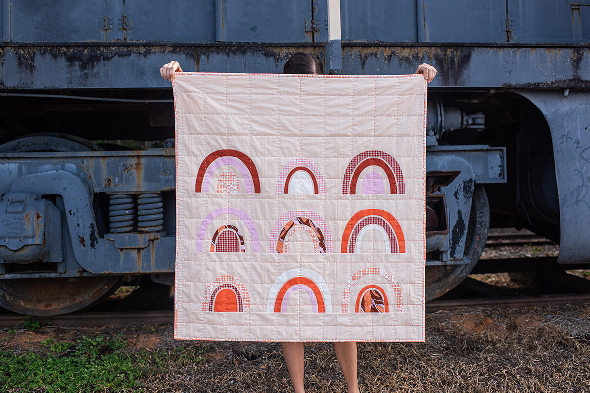 Bow Quilt in Jetty and Kept . carolyn friedlander