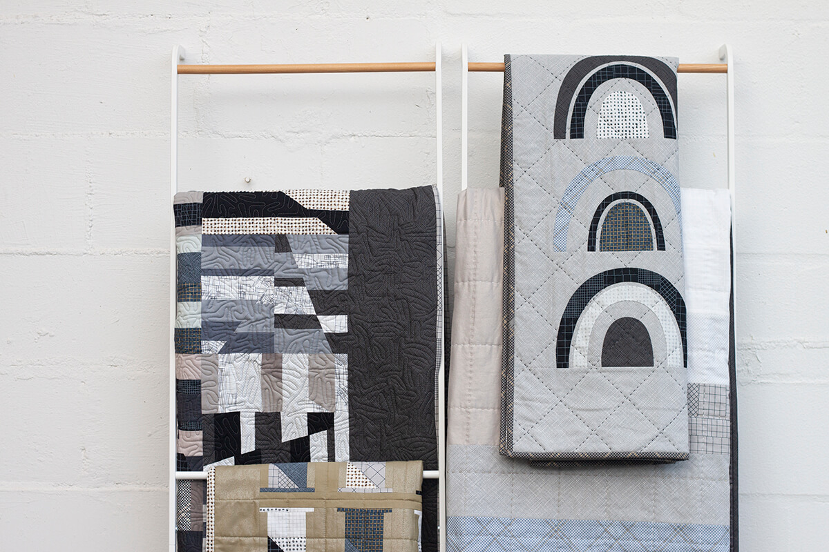 CF grid group projects including Bow Appliqué Quilt by carolyn friedlander