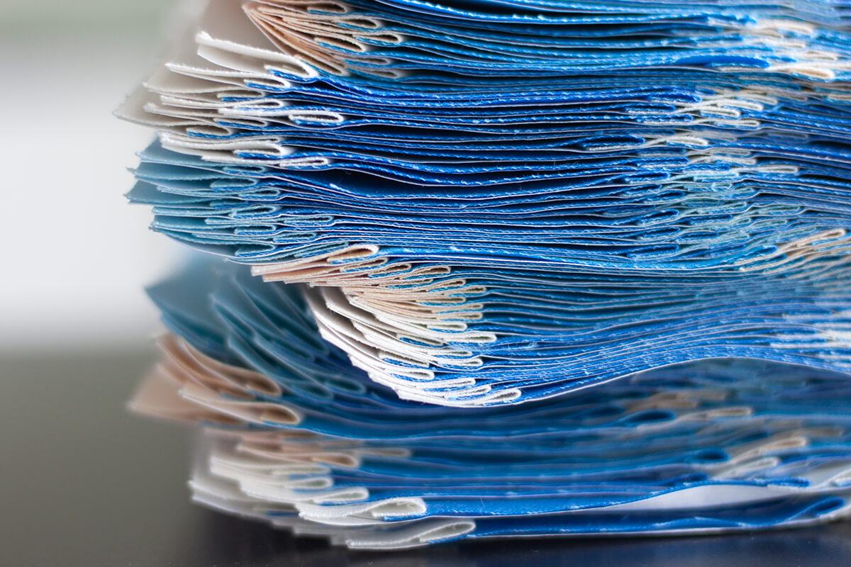 blue long leaf quilt project underway by carolyn friedlander