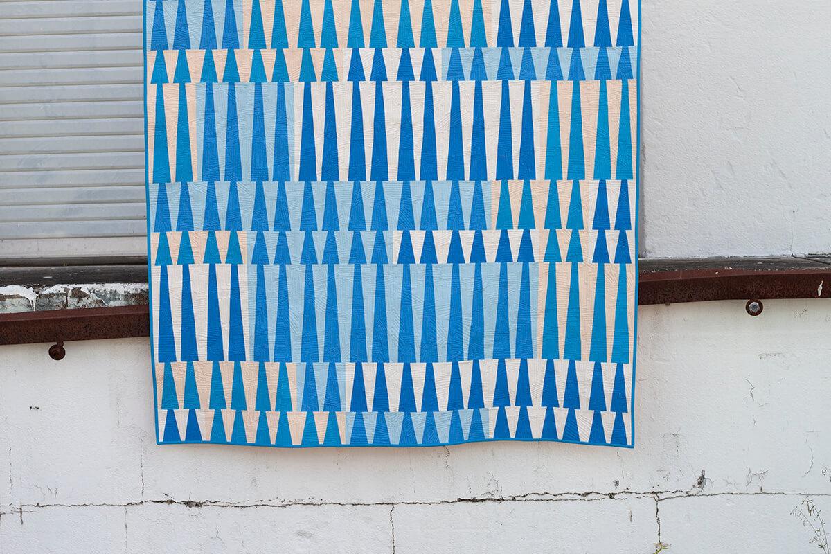 Long Leaf Quilt in Kona Cotton, Carolyn Friedlander