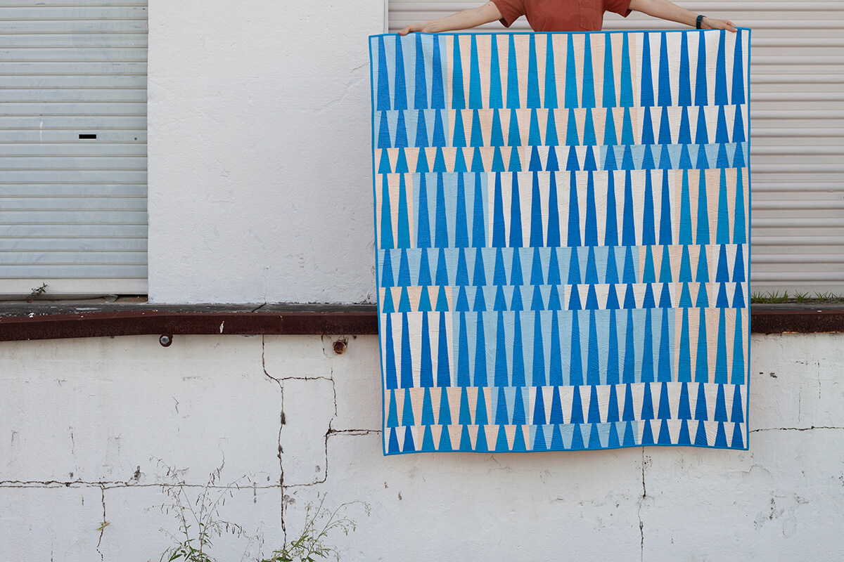 Long Leaf Quilt in Kona Cotton by carolyn friedlander