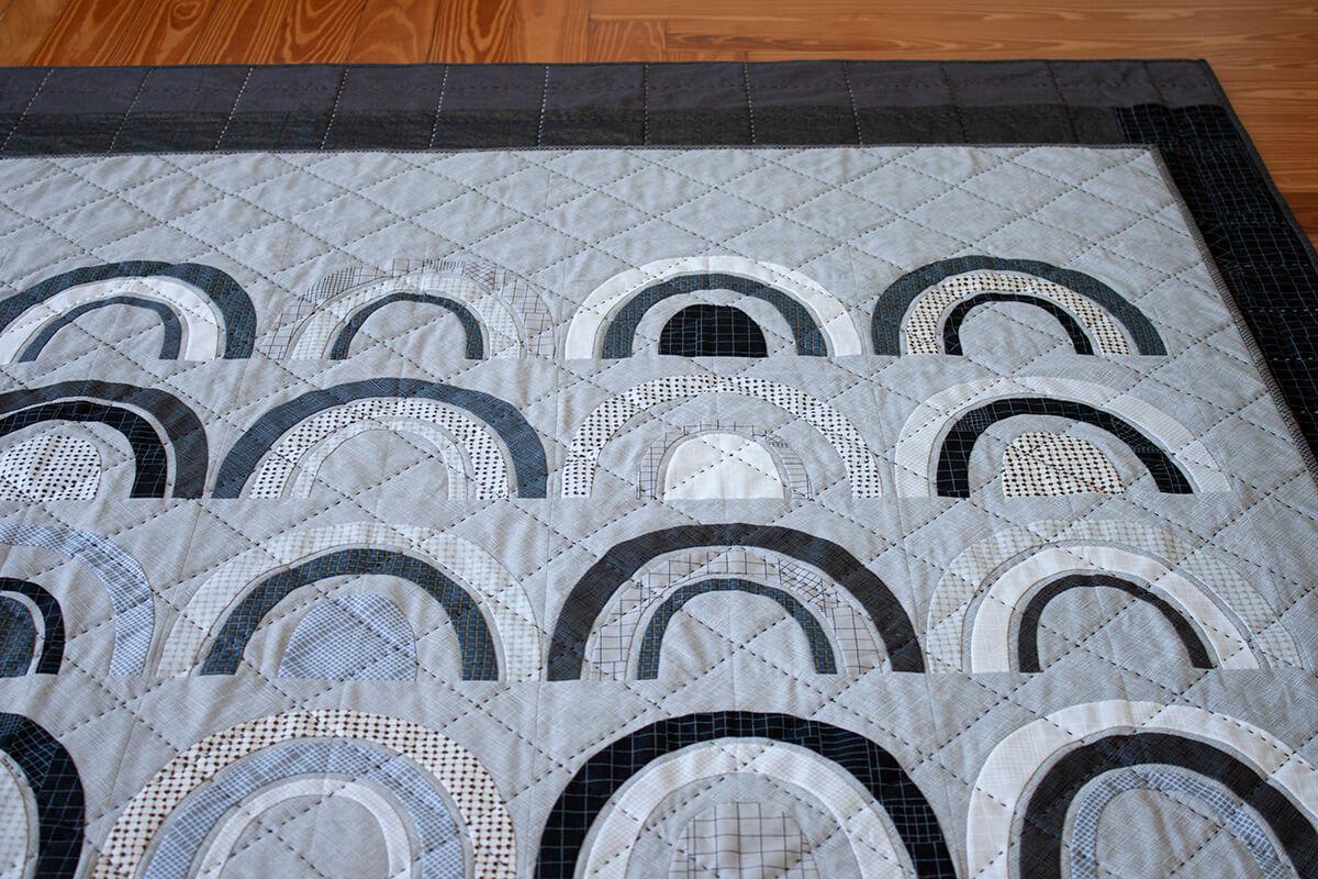 Bow Appliqué Quilt in CF Grid Group Fabrics by carolyn friedlander