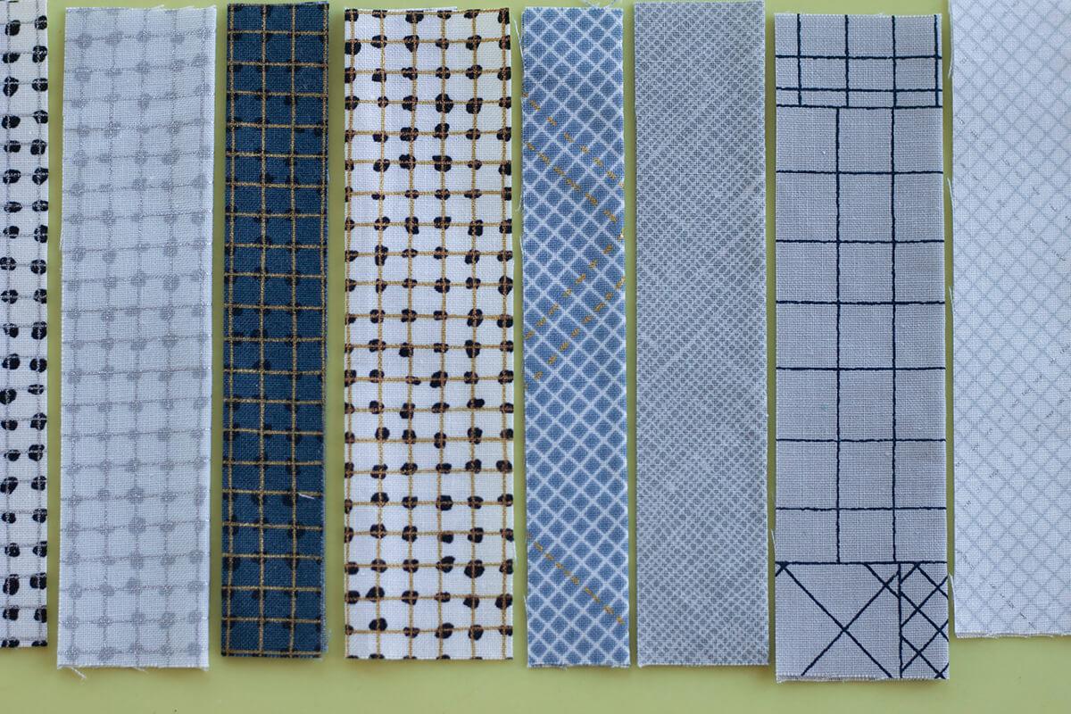 CF Grid Group fabrics by carolyn friedlander