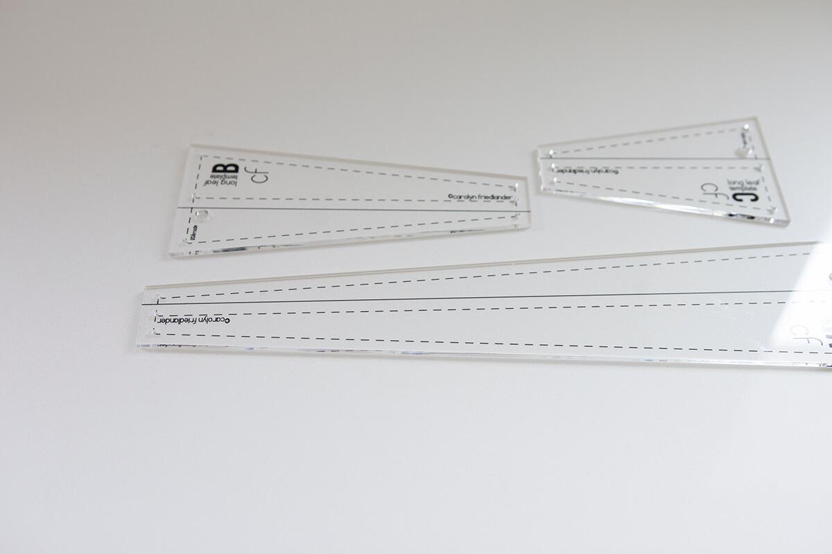 long leaf acrylic template set