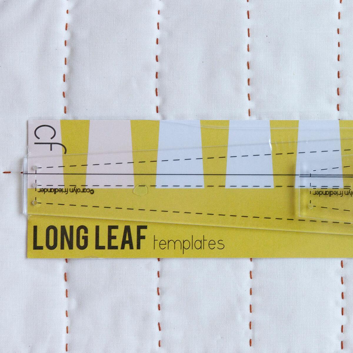 long leaf acrylic template set by carolyn friedlander