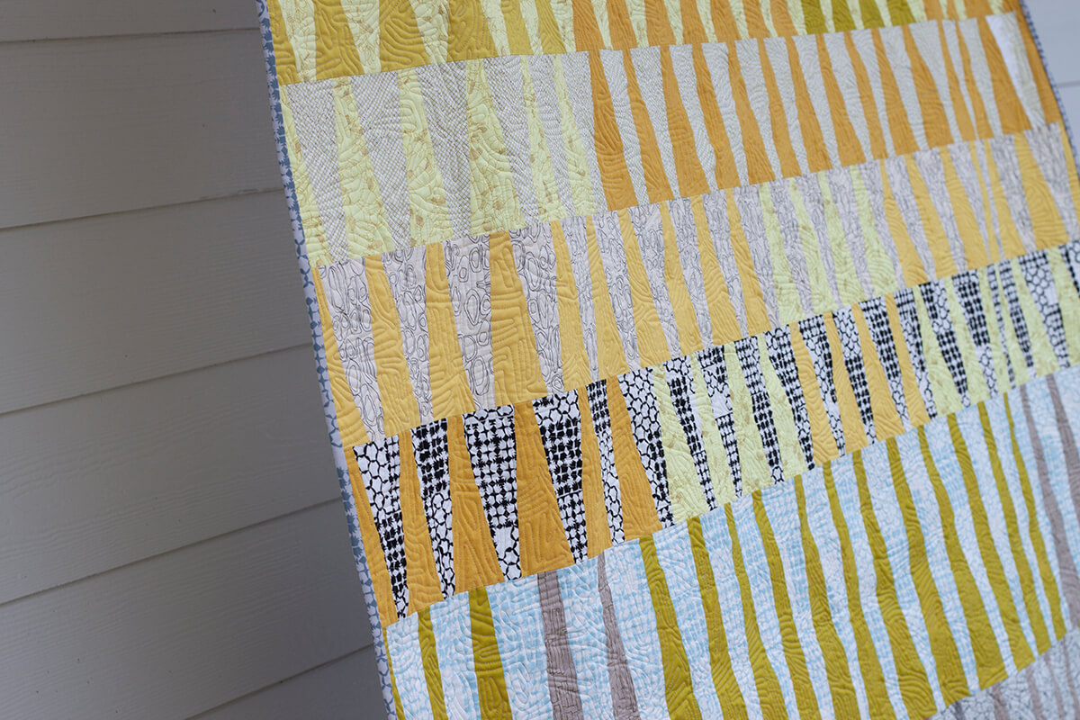 long leaf quilt in kept fabrics . carolyn friedlander