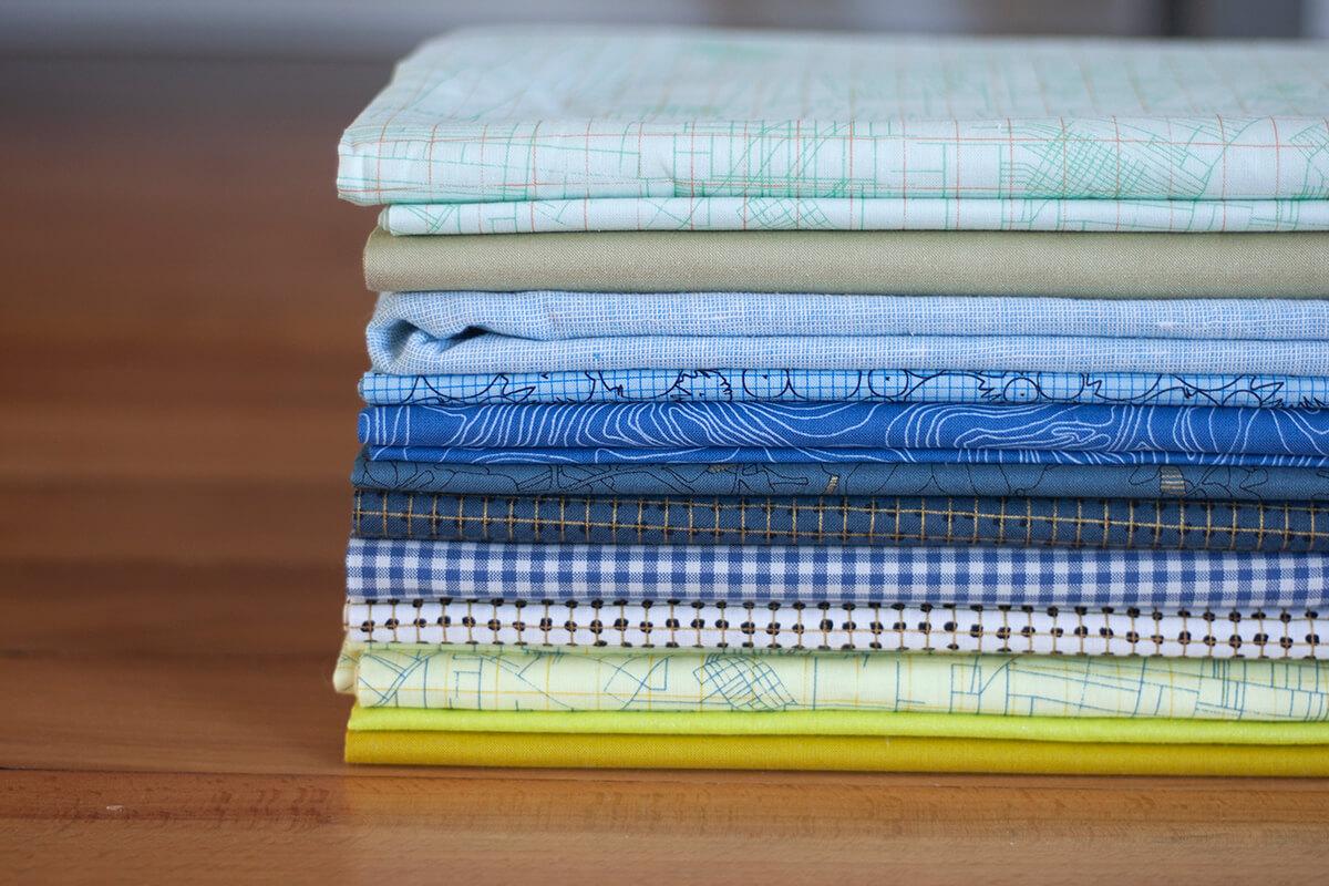 Cheering Cool fabric bundle . carolyn friedlander