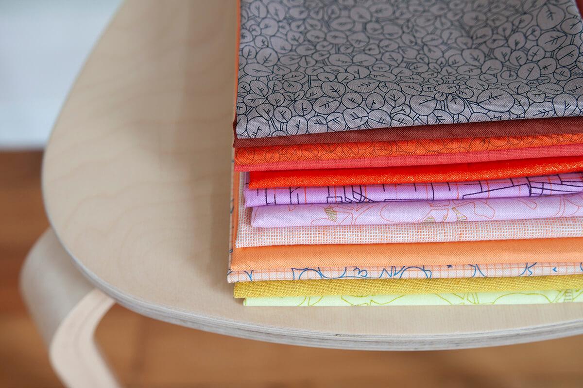 Cheering Warm fabric bundle . carolyn friedlander